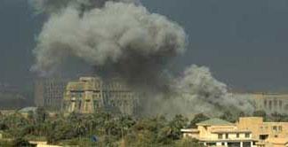 Store deler av Bagdad er bombet sønder og sammen.