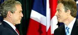 George W. Bush og Tony Blair ledet an i krigen mot Irak. (Arkivfoto: Reuters)