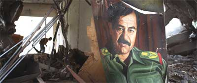 Saddam Hussein er selve symbolet på det irakiske regimet. (Foto: Getty Images)