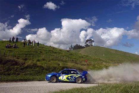 Petter under Shakedown i Rally New Zealand (Foto: www.swrt.com)