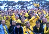 """Start-supporterene er den nye """"Menigheden"""" (foto: NRK Sørlandet)"""