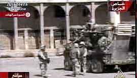 Soldater fra USA i Tikrit mandag.