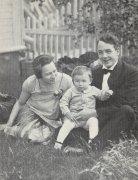 Ingrid, Magne og Einar Skjæråsen, sommeren 1928.