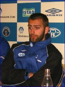 - Min nest beste kamp noensinne, sa Hoseth på pressekonferansen etter kampen. Foto: Gunnar Sandvik