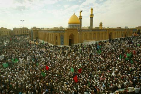 Over en million sjiamuslimer er ventet til den hellige byen Karbala. (Foto: Reuters/Scanpix)
