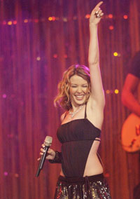 Kylies flinke låtskrivere er hyppigst nominert for suksess og kvalitet. Foto: Getty