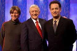 Tom Hanks og David Bowie gjester Parkinson lørdag 26/4 på SVT. Foto: BBC