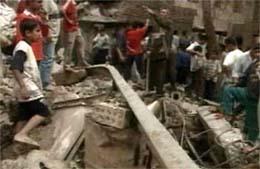Mange mennesker mistet livet i eksplosjonen (foto: EBU)
