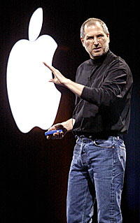 Apple-sjef Steve Jobs får et ikke like lett i Europa som i USA. Foto: Justin Sullivan, Getty Images.