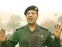 Den irakske informasjonsministeren var en av de få innslagene som fikk seerne til å trekke på smilebåndet under krigen. Foto: welovetheiraqiinformationminister.com.