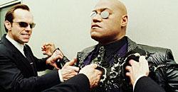 Morpheus i trøbbel med kjipe Agent Smith
