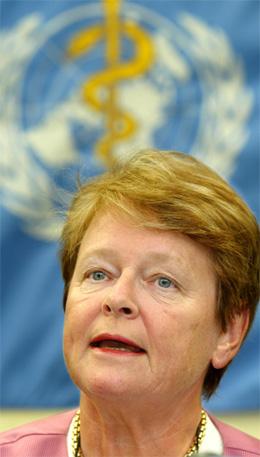 Gro Harlem Brundtland er generaldirektør i Verdas helseorganisasjon WHO. (Foto: Thierry Roge, Reuters)
