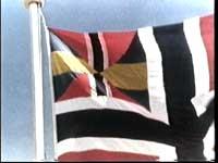 Fra de gode, gamle unionsdager: Sildesalaten på flaggstanga.