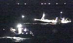 Alle båter i nærheten deltok straks i redningsaksjonen. (Foto: NRK)