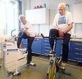 KOLS-pasienter sykler med ett bein