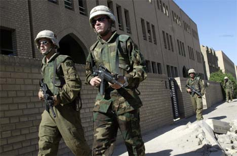 Amerikanske soldater i Irak. (Foto: Gunnar Lier, Scanpix)