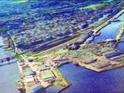 Den nye vegen kjem til å gjere store inngrep i havna i Trondheim. Foto: Arkiv.