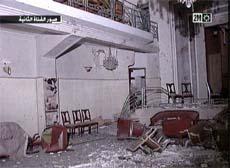 Hotel Safir i Casablanca ble hardt rammet av bombene. (Foto: Reuters/Scanpix)