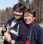 "Ingrid og Ruben under opptak til Nitimens ""Kom i Form""-spalte..."