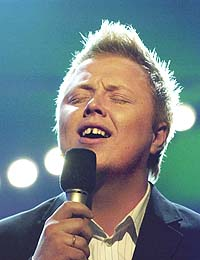 Idol-vinner Kurt er egentlig vokalist i bandet Fenrik Lane. Foto: Thomas Bjørnflaten / SCANPIX.