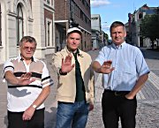 Tore E. Hansen (Ap), Jan Petter Juriks (Bylista), Tore O. Hansen (H)