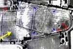 Gibsund gård sett fra satellitt