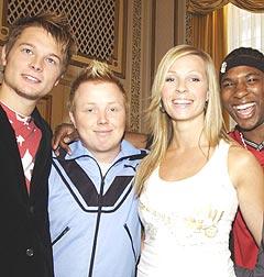 Disse fire får du se på Idol-turnéen. Fra venstre: Gaute Ormåsen, Kurt Nilsen, Guro Dugstad og Orji Okoroafor, Foto: Cornelius Poppe / SCANPIX.