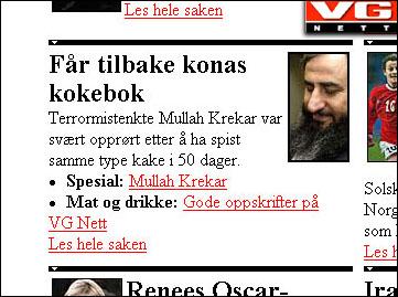 VG Netts originaloppslag