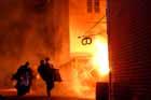 Bildet fra tv-opptak om bybrannen i Ålesund