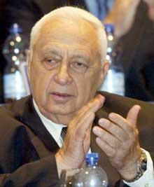 Ariel Sharon på Likuds landsmøte. (Foto: Gil Cohen Magen/Reuters)