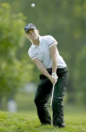Suzann Pettersen på det 14. hullet i Wilmington. (Foto: Andy Lyons/Getty Images)