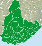 Klikkbart kart på forsiden av valgseksjonen gir deg direkte tilgang til din kommune.