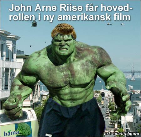 Den norske fotballstjernen John Arne Riise spiller Hulken i filmen som ventes å bli en av sommerens store suksesser. (Alltid Moro)