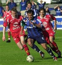 Martin Andresen utliknet da Stabæk kom tilbake fra 0-3 mot Brann (Foto: Marit Hommedal/SCANPIX)