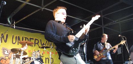 Anders Offenberg Jr. ga alt sammen med Bjørn Jacobsen på bass og Brigt Grendar på trommer. Foto: Stian Fjelldal