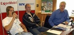 Andreas Thorkildsen (t.v.) og Atle McAdam er Svein Arne Hansens norske håp under Bislett Games (Foto: Cornelius Poppe/SCANPIX)