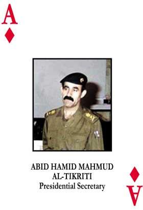 I den kjende kortstokken over ettersøkte i Irak var Mahmud ruteress. (Foto: Reuters)