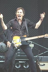 Bruce Springsteen klarte ikke leve opp til navnet sitt: Sjefen av Rock'n Roll. Foto: Erlend Aas / SCANPIX.