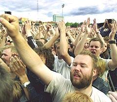 Bruce Springsteen og hans E-street Band spilte for 40.000 på Valle Hovin i Oslo 19. juni i fjor. Foto: Erlend Aas, Scanpix.