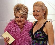 """""""Ta meg bort fra denne filmen! Få vekk hun ekle Candice Bergen nå!"""" Smilet til Gwyneth er merkelig stivt. Nå skjønner vi hvorfor"""