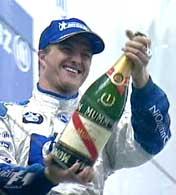 Ralf Schumacher sløste med edle dråper etter seieren