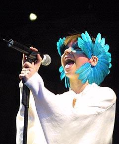 Björk bød på både lavmælt skjønnhet og techno. Foto: Jørn Gjersøe, nrk.no/musikk.