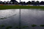 Kraftig regnvær i Stavanger gjorde at kampen ble utsatt. (Foto: Scanpix/Alf Ove Hansen)
