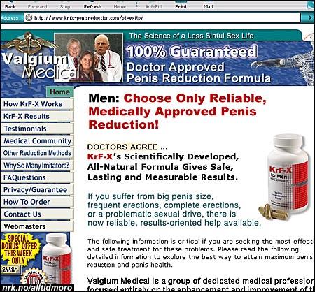 En sjelden spam-variant: Pillen som skal minske lysten og gi deg mindre penis. (Alltid Moro)