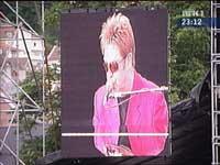 Elton John på Koengen i Bergen tirsdag kveld. Foto: NRK.