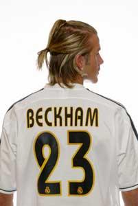 David Beckham viser seg frem i drakt nummer 23. (Foto: Gary M. Prior/Getty Images)