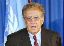 Lakhdar Brahimi ble utnevnt til FN-utsending i januar i år. Foto: AP/Scanpix.