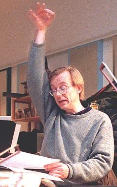Christian Eggen har markert seg både som utøver, komponist og - som her- dirigent. (Foto: Ørn E. Borgen, Scanpix).