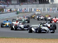Ralf Schumacher vant for andre helg på rad (Foto: Adam Butler/AP)