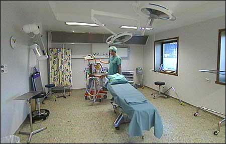 Operasjonssal ved sjukehuset i Florø. (Foto: Heidi Lise Bakke, NRK)